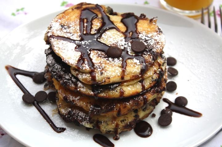 Chocolatechip pancakes