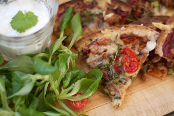 Speltlompe pizza, verdens raskestehverdagspizza