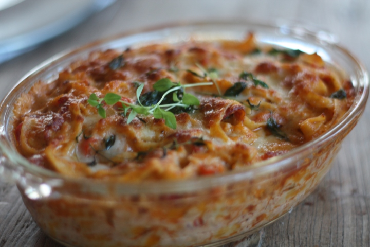 Ovnsbakt pasta medchorizo